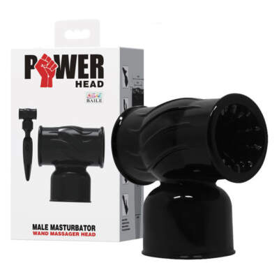 Baile Power Masturbator Wand Attachment Black BI-014351 6959532315738