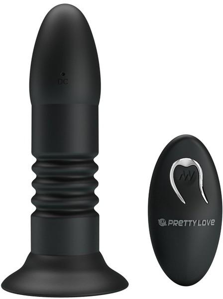 Baile Pretty Love Magic Jingers Remote Thrusting Butt Plug Black BI 014595W 6959532322552 Detail