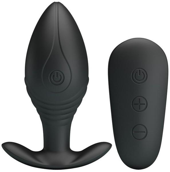 Baile Pretty Love Royal Pleasure Regina Wireless Remote Butt Plug Black BI 040078W 6959532331806 Detail