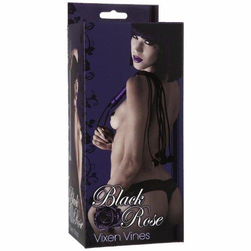 Black Rose Vixen Vines Cat O Nine Tails Flogger Black 2301-16-BX 782421017002