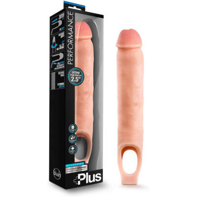 Blush Performance Plus 11 Inch Penis Sleeve 2 Inch Extension Light Flesh BL 22693 853858007949 Multiview