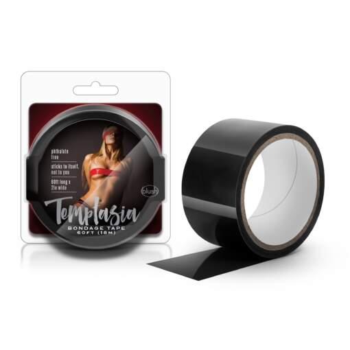 Blush Temptasia Non-Stick Bondage Tape Black BL-40695