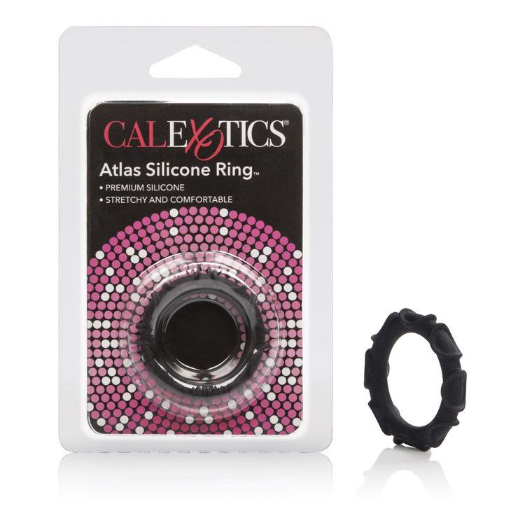 Calexotics Atlas Silicone Cock Ring Black SE-1368-25-2 716770062376