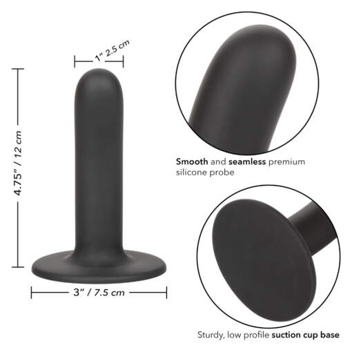 Calexotics Boundless Silicone 4 point 75 Inch Smooth Probe Black SE 2700 13 3 716770096111 Info Detail