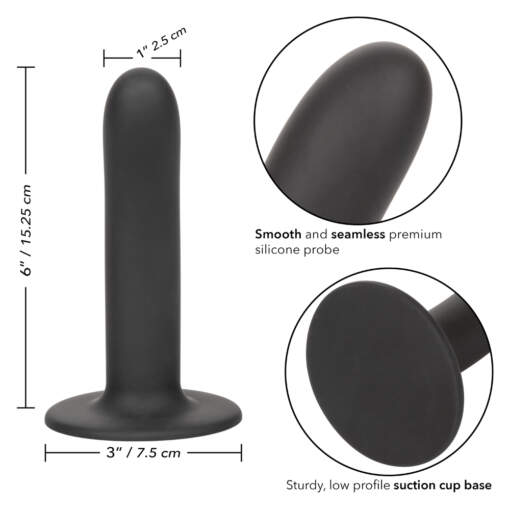 Calexotics Boundless Silicone 6 Inch Smooth Probe Black SE 2700 19 3 716770096135 Info Detail