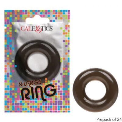 Calexotics Foil Pack XL Cock Ring Smoke Transparent Black SE 8000 10 1 716770097606 Multiview
