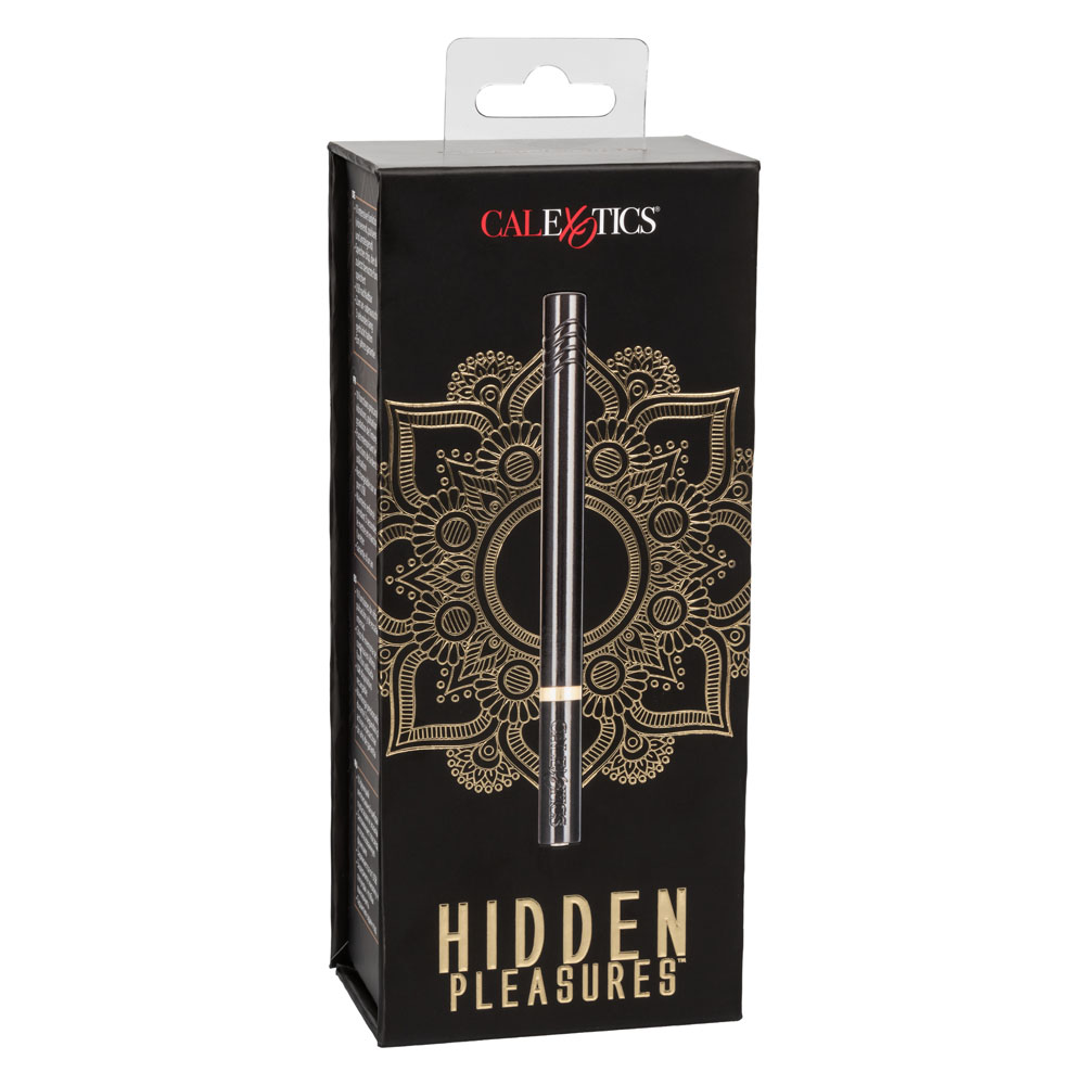 Calexotics Hidden Pleasures Rechargeable Slimline Vibrator Black SE 0037 15 3 716770095350 Boxview