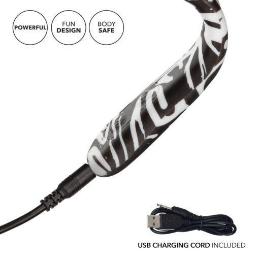 Calexotics Hype Flexi Wand Flexible Rechargeable Vibrator Black White SE-4412-20-3 716770091635Calexotics Hype G Spot Wand Vibrator Black and White SE-4412-30-3 716770091635