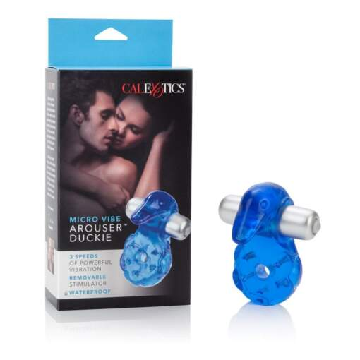 Calexotics-Micro-Vibe-Arouser-Duckie-Cock-Ring-Blue-716770040909-SE-8938-12-3-Multiview