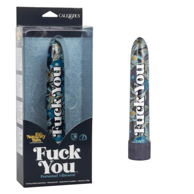 Calexotics Naughty Bits Fuck You Printed Smoothie Vibrator Blue SE 4410 11 3 716770094322 Multiview