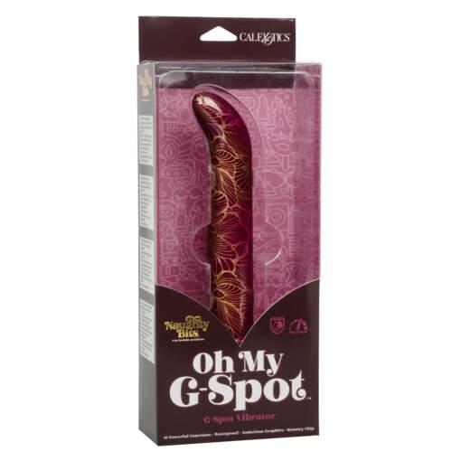 Calexotics Naughty Bits Oh My G Spot Patterned Vibrator Burgundy SE 4410 15 3 716770094346 Boxview