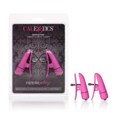 Calexotics Nipple Play Nipplettes Vibrating Nipple Clamps Pink SE-2589-04-2 716770083593
