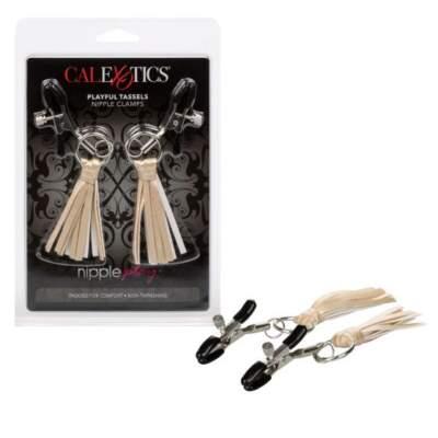 Calexotics Nipple Play Playful Tassels Nipple Clamps Gold SE 2614 15 2 716770092274 Multiview