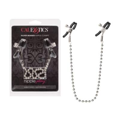 Calexotics Nipple Play Silver Beaded Nipple Clamps SE 2610 10 2 716770033710 Multiview