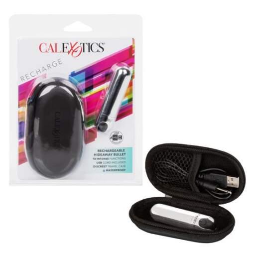 Calexotics Rechargeable Hideaway Bullet Vibrator Chome SE 0062 40 2 716770094933 Multiview