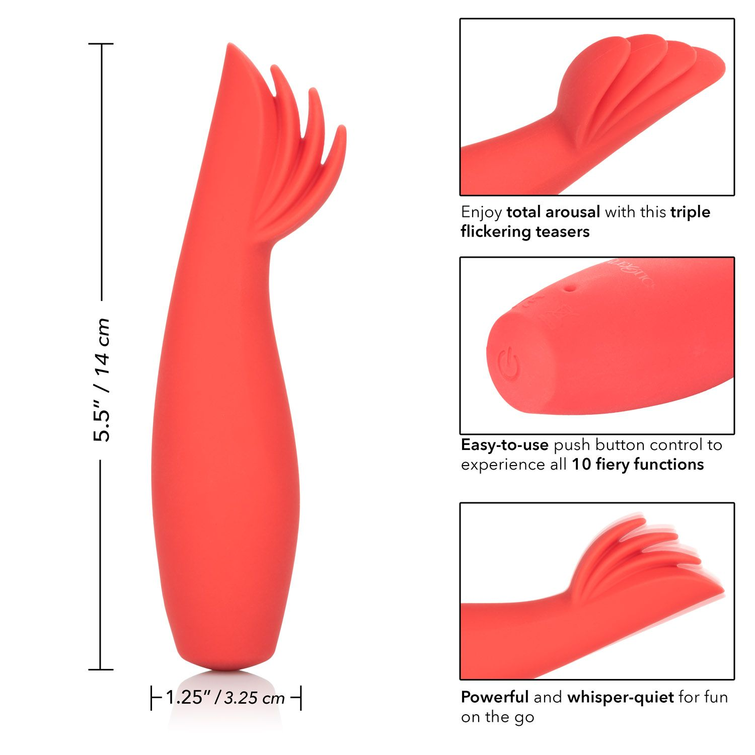 Calexotics Red Hot Blaze Clitoral Vibrator Red SE-4408-45-3 716770091482