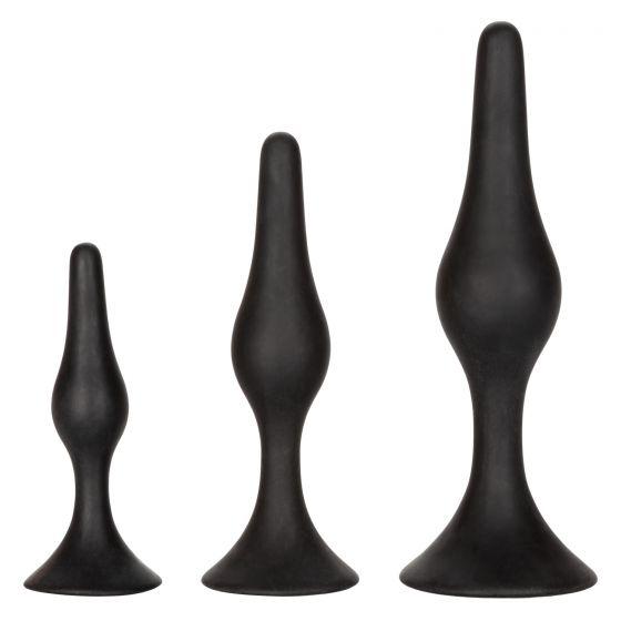 Calexotics Silicone Anal Starter Kit 3pc Black SE 0410 03 2 716770093868 Detail