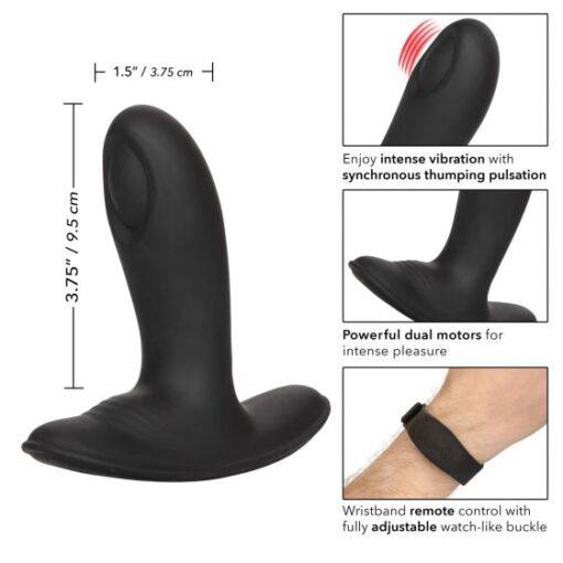 Calexotics Wristband Remote Pulsing Anal Probe Black SE-0436-85-3 716770093011