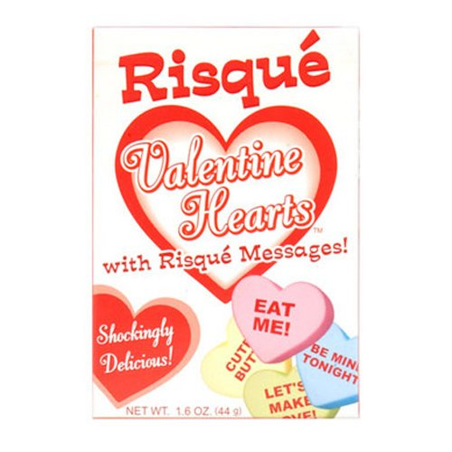 Candyprints Risque Valentine Hearts Candies Heart Shaped Word Candy 44g 817717001639