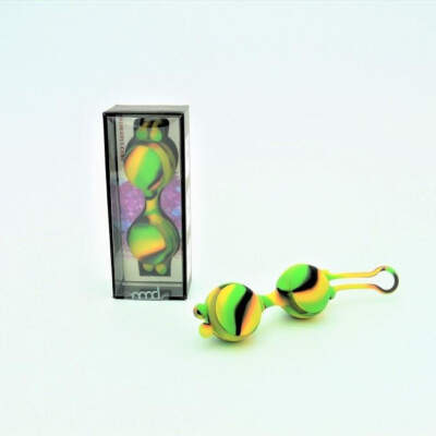 Colourful Camo Sail Silicone Kegel Ball Yellow LA 11055 03Y 9354434000350