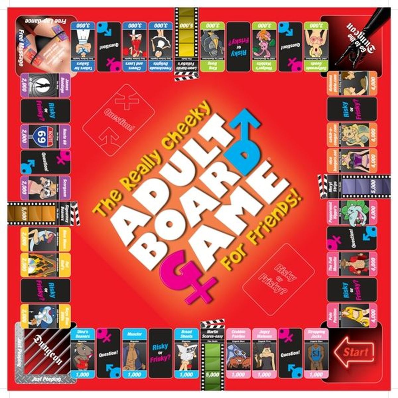 Creative Conceptions A Really Cheeky Adult Board Game for Friends 5037353000888 Game Board Detail