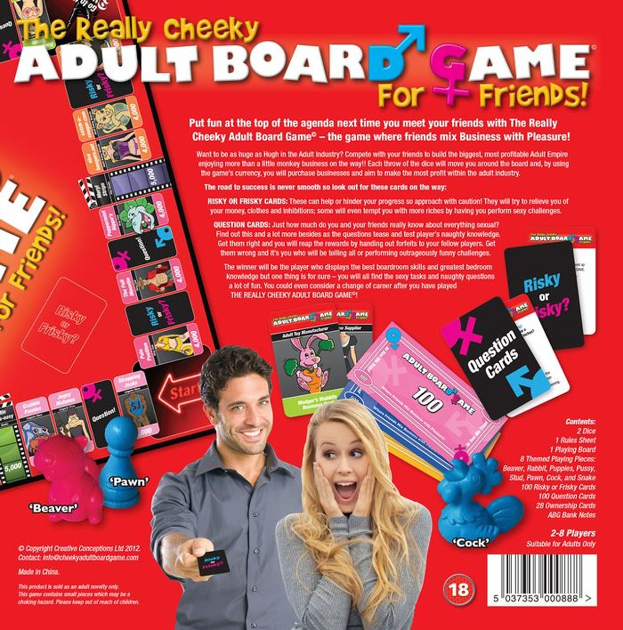 Creative Conceptions A Really Cheeky Adult Board Game for Friends 5037353000888 Rear Boxview