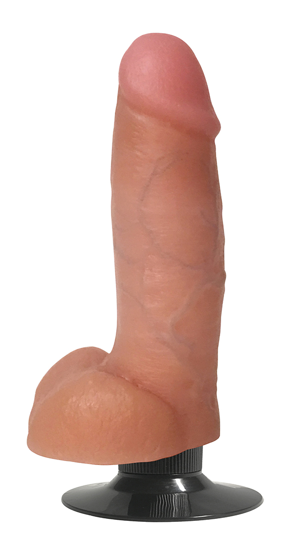 Curve Toys Jock Bareskin 7 Inch Vibrating Dildo With Balls Vanilla Light Flesh CN 09 0642 10 653078941401 Detail