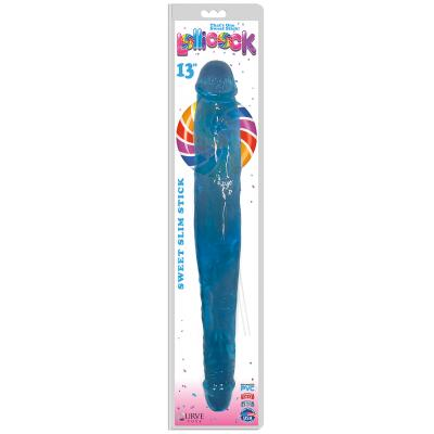 Curve Toys Lollicocks 13 Inch Slim Stick Double Dong Double Ender Berry Ice Blue CN 14 0523 46 653078939934 Boxview