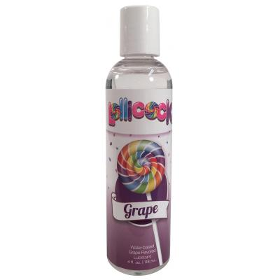 Curve Toys Lollicocks Flavoured Water Based Lubricant Grape Flavour 118ml CN 14 0519 51 653078939798 Boxview