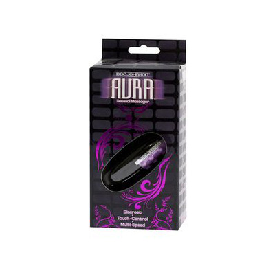 Doc Johnson Aura Sensual Massager Clitoral Black Purple 0355-02-BX 782421921415