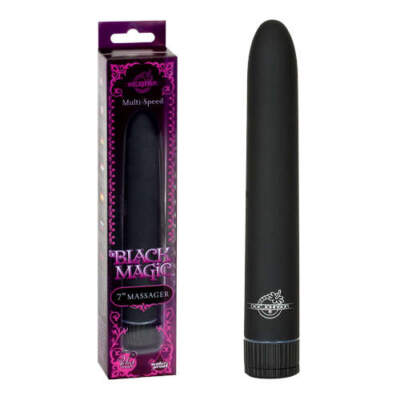 Doc Johnson Black Magic 7 Inch Smoothie Massager Black 0951 11 BX 782421970819 Multiview
