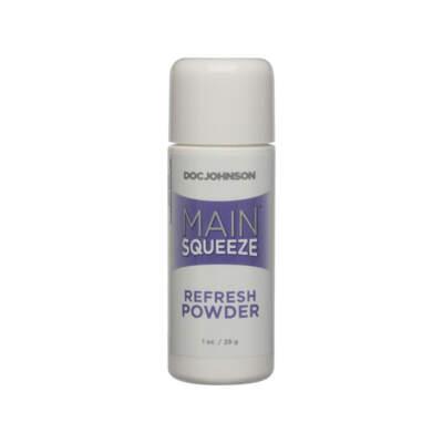 Doc Johnson Main Squeeze Refresh Powder TPE Sleeve Care Powder 28g 5205 05 BU 782421065843 Boxview