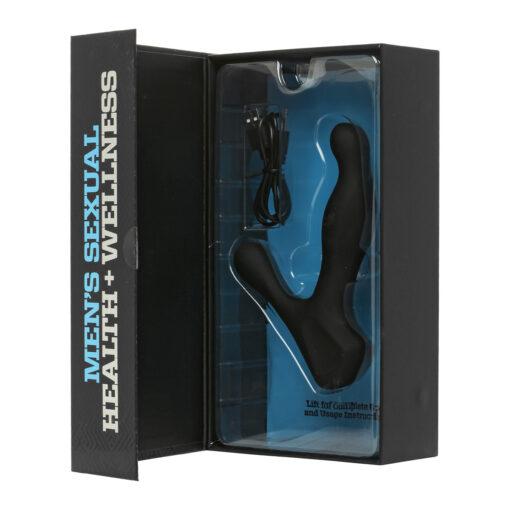Doc Johnson Optimale Rimming P-Massager Rechargeable Beaded Prostate Vibrator Black 0691-10-BX 782421066840