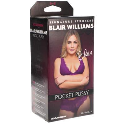 Doc Johnson Signature Strokers Pocket Pussy Stroker Blair Williams Light Flesh 5510 12 BX 782421077624 Detail