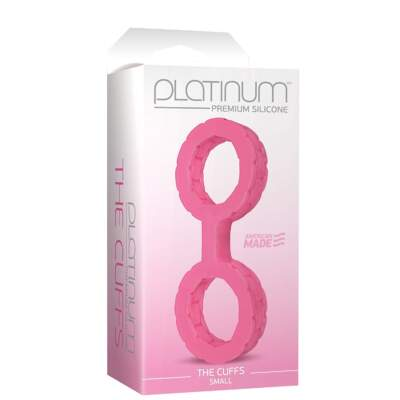 Doc Johnson Silicone Cuffs Small Pink 0109-02-BX 782421055127