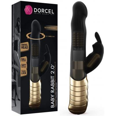 Dorcel Baby Rabbit 2 point 0 Rechargeable Rabbit Vibrator Black Gold 6072288 3700436072288 Multiview