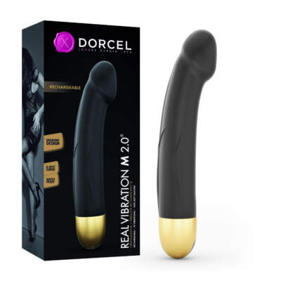 Dorcel Real Vibration Medium Rechargeable Penis Vibrator Black Gold 6072233 3700436072233 Multiview