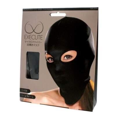 EXECUTE Face Mask Eye Holes Black M L MK004 4573103500044 Boxview
