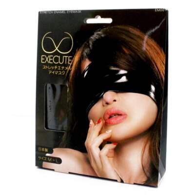 EXECUTE PVC Stretch Eye Mask Black M L EM001 4573103500082 Boxview
