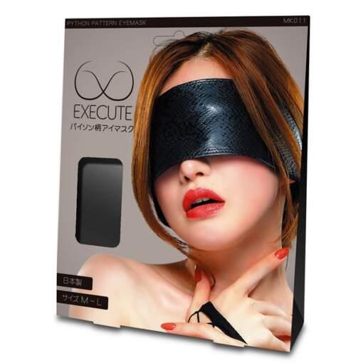 EXECUTE Python Pattern Eye Mask Black M L MK011 4573103500280 Boxview