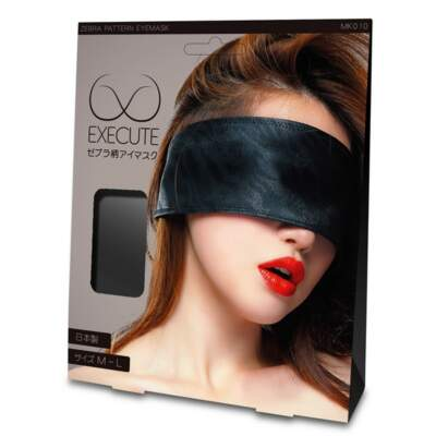 EXECUTE Zebra Pattern Eye Mask Black M L MK010 4573103500273 Boxview