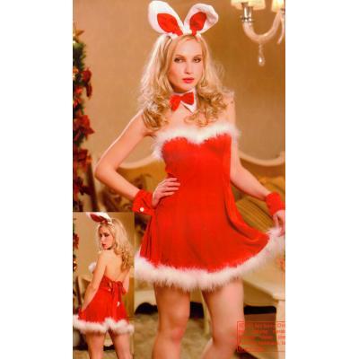 Ellens- Lingerie Santas Naughty Bunny Helper Xmas Christmas Outfit Costume SD052