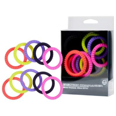 Erection Commander 10 Pack Silicone Cock Rings FKH019A000 000 4892503159042 Multiview