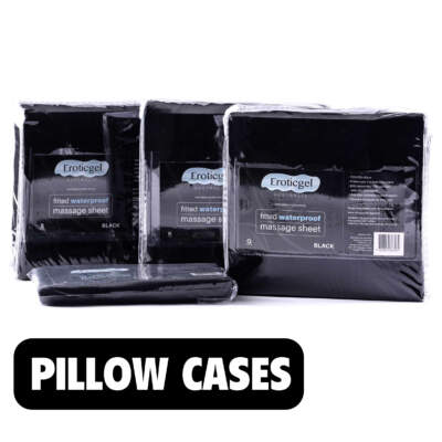 Waterproof Pillow Cases Set Black