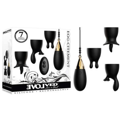 Evolved Novelties Egg citement Remote Eg Vibrator Kit Black EN RS 6344 2 844477016344 Multiview