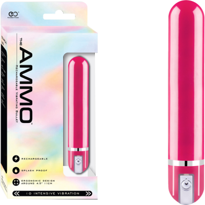 Excellent Power Ammo Rechargeable Bullet Vibrator Pink FVJ008A000-027 4897078624377