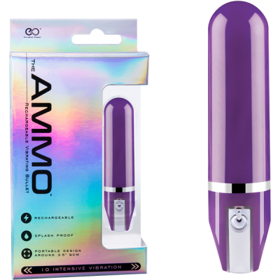 Excellent Power Ammo Rechargeable Vibrating Bullet Purple FVJ007A000-022 4897078623981