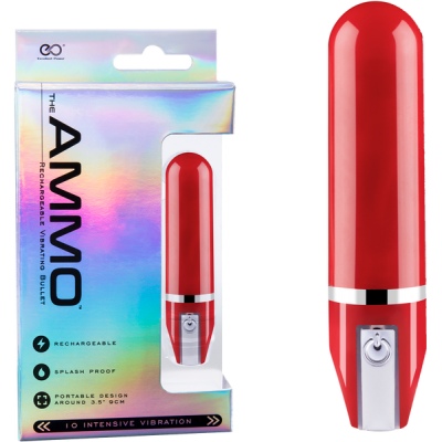 Excellent Power Ammo Rechargeable Vibrating Bullet Red FVJ007A000-008 4897078623967