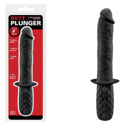 Excellent Power Butt Plunger Anal Penis Dong Black F06K007A00-010 4897078626685 Multiview