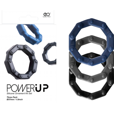 Excellent Power Power Up Cock Ring Set 3pk FKJ027A000-000 4897078624186